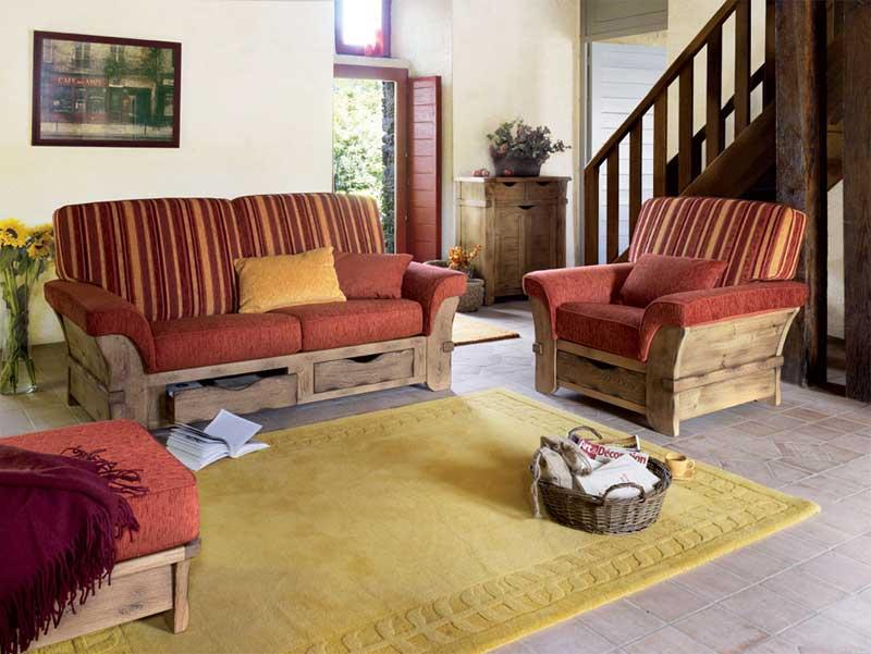 salon en bois et tissu maison design. Black Bedroom Furniture Sets. Home Design Ideas