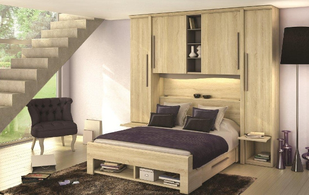 dressings saint marcellin lit pont avec rangement saint. Black Bedroom Furniture Sets. Home Design Ideas